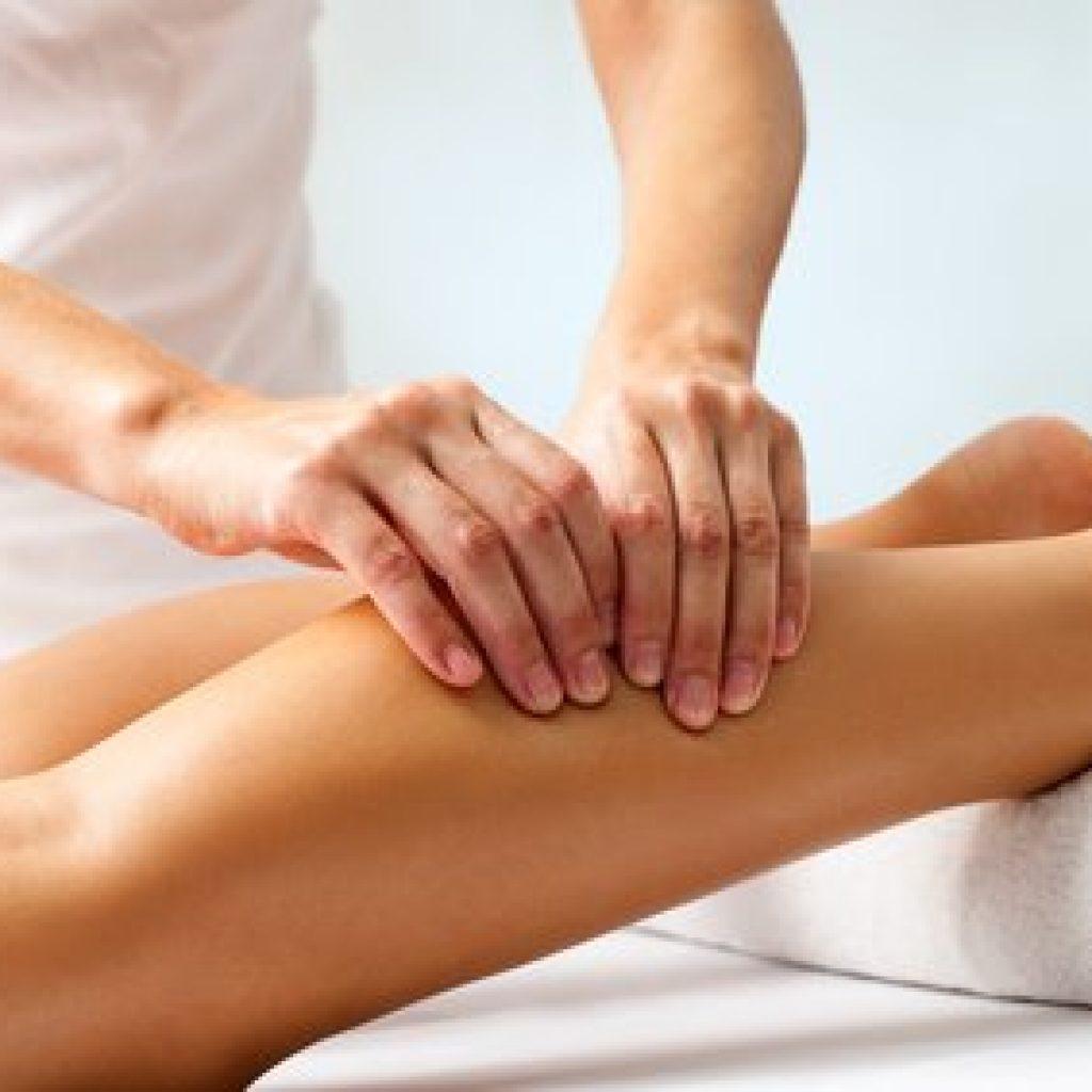 Massage der linken Wade