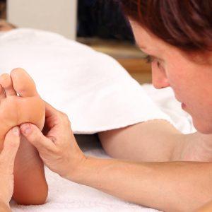 Professionelle Fußreflexzonenmassage
