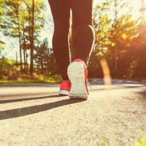 Beine einer joggenden Frau