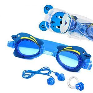 """Die Kinderschwimmbrille """"Swim Buddy Dolphin"""" von Sportastisch."""
