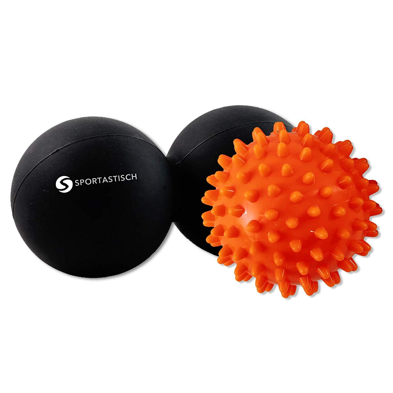 """Das Massageball Set """"Take a break"""" von Sportastisch mit verschiedenen Zonen."""