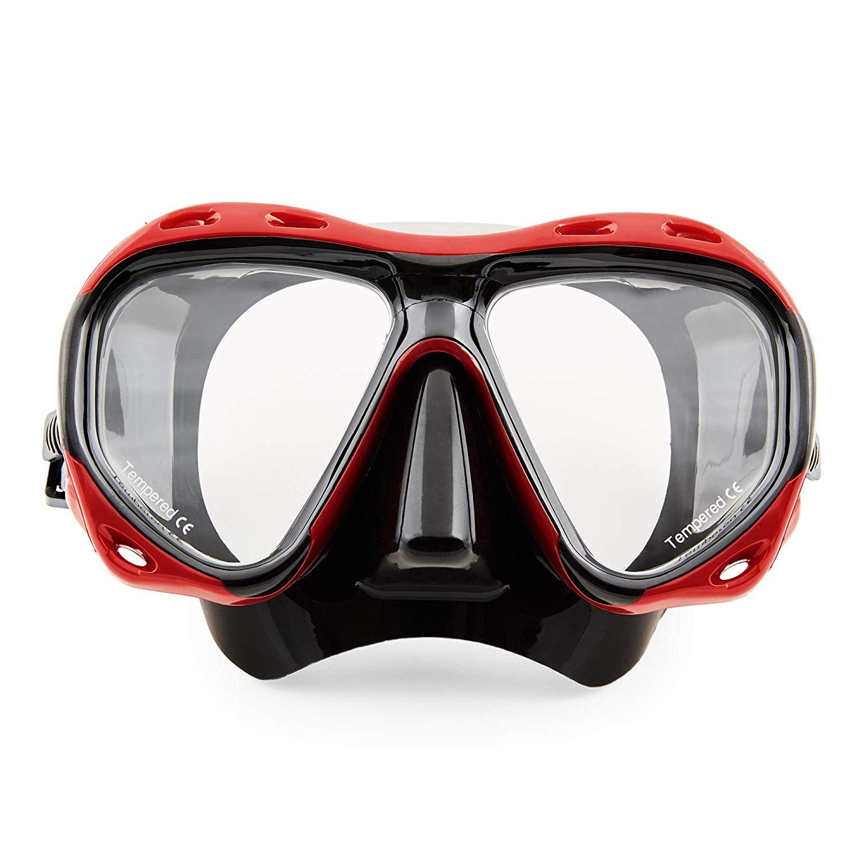 """Die Profi Taucherbrille """"Redfish"""" von Sportastisch mit gehärtete Anti-Beschlag Gläsern."""