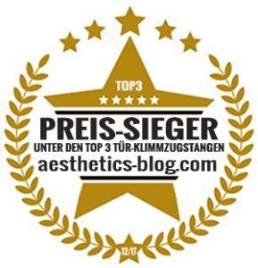 """Die Klimmzugstange """"Powerful"""" von Sportastisch wurde vom aesthetics-blog.com zum Preis-Sieger gewählt."""