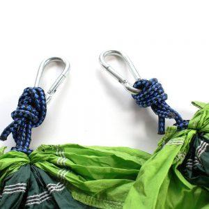 Die Knoten bei der Hängematte sind entscheidend.