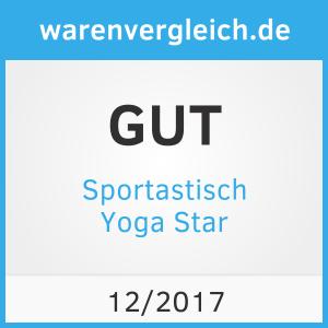 """Die Seite Warenvergleich.de hat die Yogamatte """"Yoga Star"""" von Sportastisch für gut befunden."""