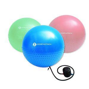 """Das Premium Gymnastikball """"Massage Gym Ball"""" von Sportastisch."""