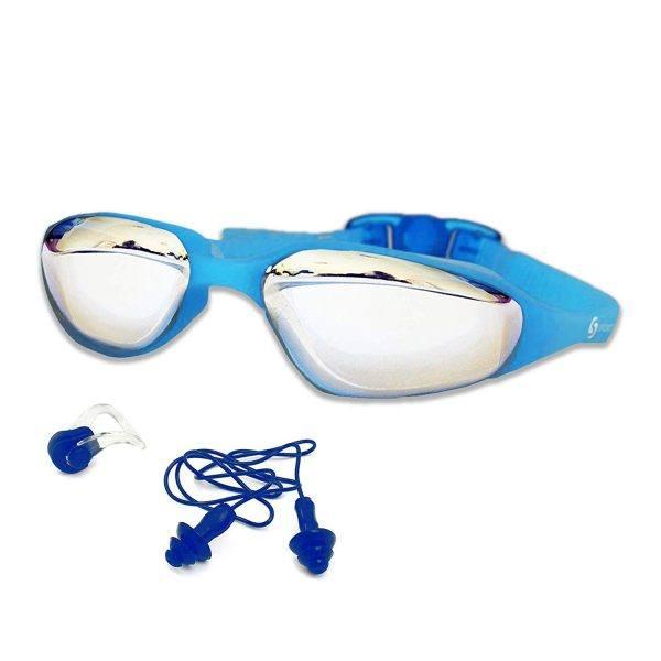 """Die Profi Schwimmbrille """"Aquatically"""" von Sportastisch hat eine komfortable Silikon Nasenbrücke."""