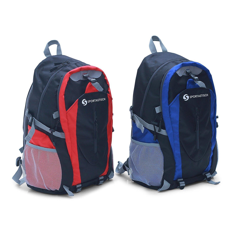 """Den Premium Rucksack """"Sporty Backpack"""" von Sportastisch gibt es in rot und in blau."""