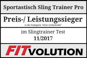 Der Schlingentrainer wurde von FITvolution zum Preis-/ Leistungssieger gewählt.