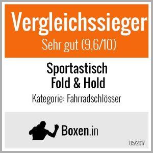 """Das Fahrradschloss """"Fold & Hold"""" wurde von Boxen.in zum Vergleichssieger gewählt."""