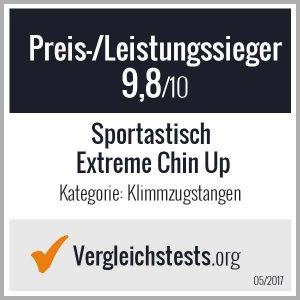 """Die Klimmzugstange """"Extreme Chin Up"""" wurde von Vergleichstests.org zum Preis-/Leistungssieger gewählt."""