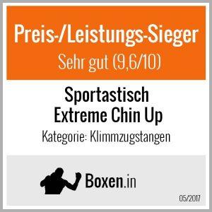 """Die Klimmzugstange """"Extreme Chin Up"""" wurde von boxen.in zum Preis-/Leistungssieger gewählt."""
