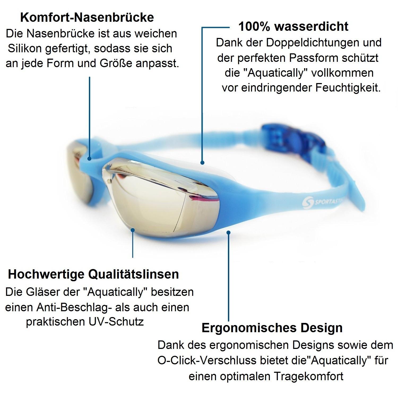 "Profi Schwimmbrille ""Aquatically"""