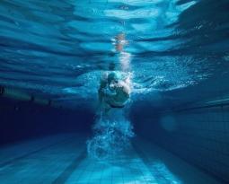 Klare Sicht unter Wasser