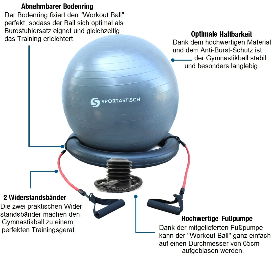 "Premium Gymnastikball ""Workout Ball"""